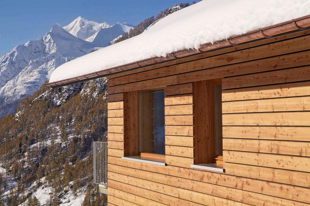 Chalet, Blickrichtung nach Südwesten auf Weisshorn, 4.505 m