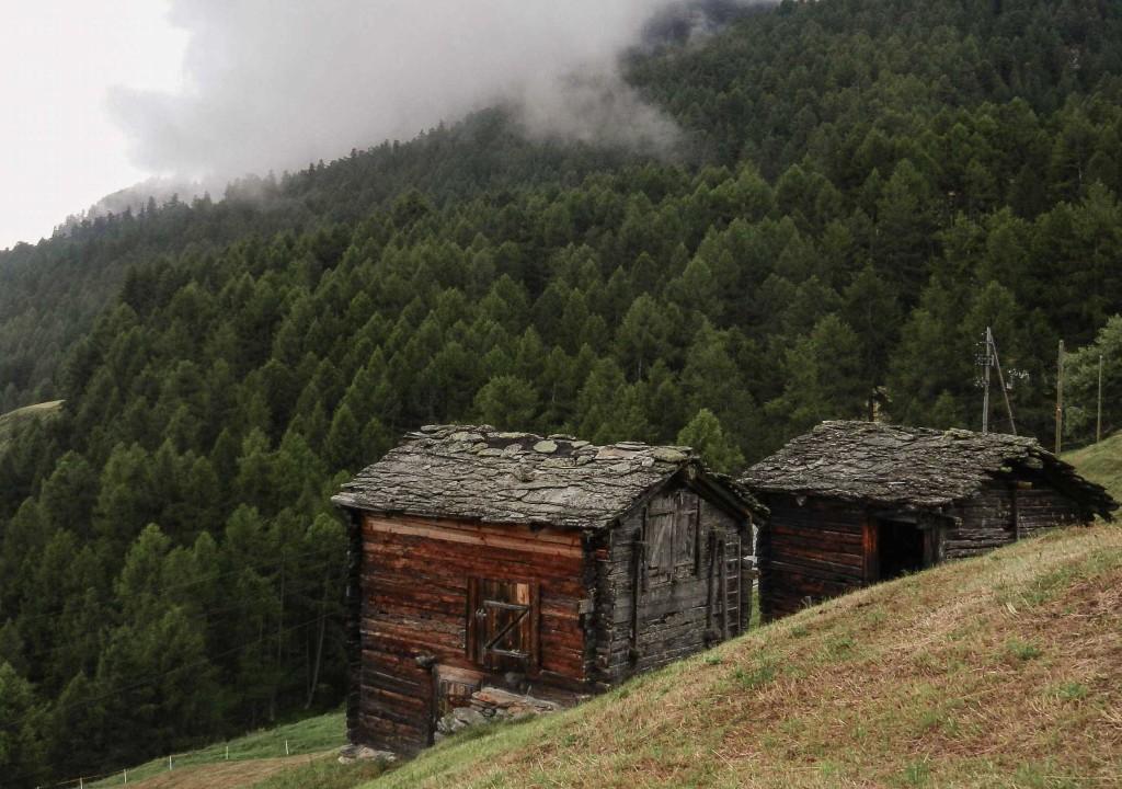 typische alte Stadel, Umgebung Chalet