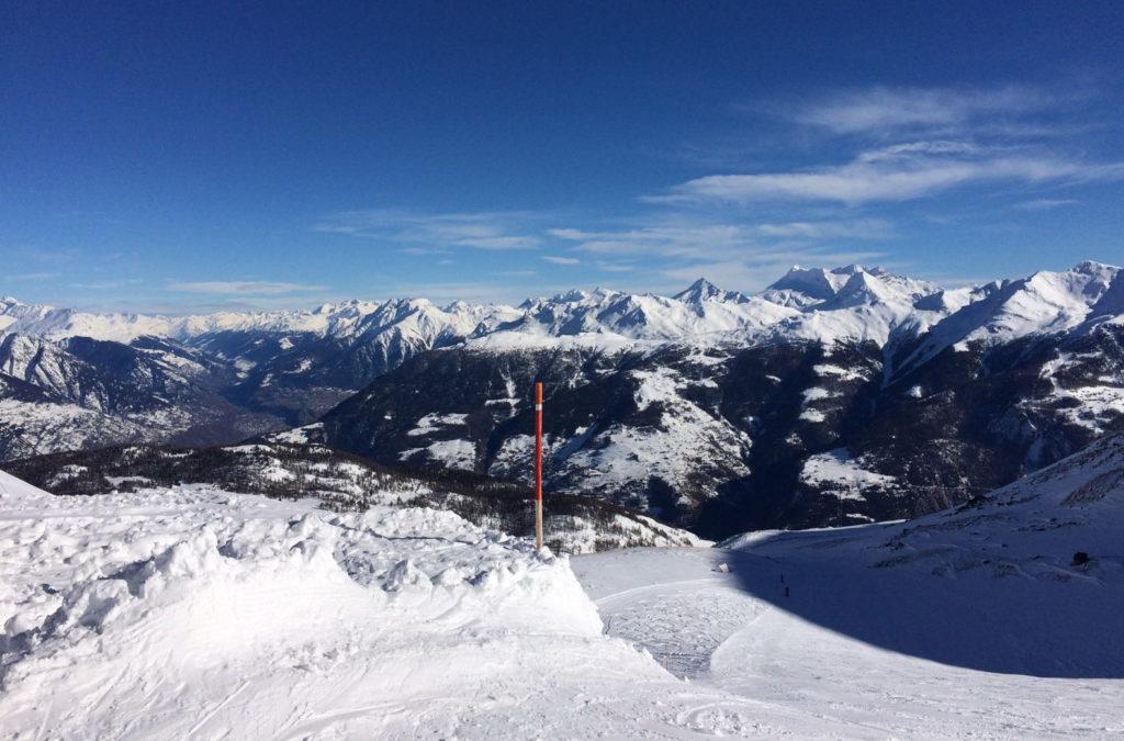 Im Skigebiet Törbel-Bürchen-Moosalp
