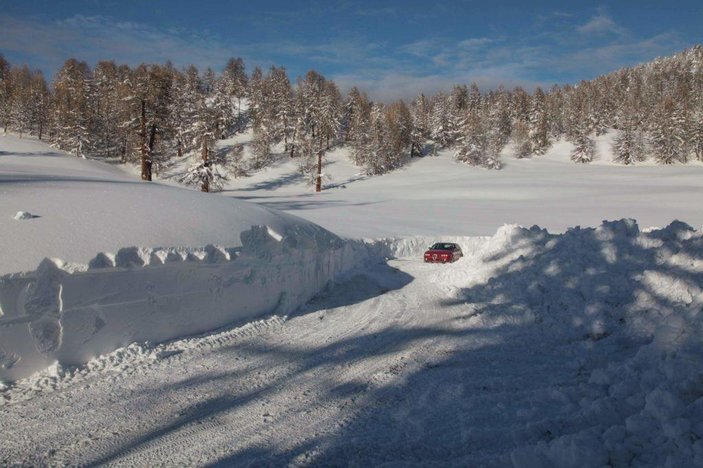 Strässchen zur Moosalp, bei viel Schnee 2018