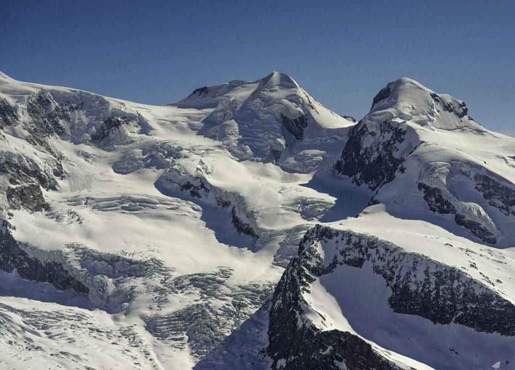Zermatt: Blick von Gorner Grat bzw. Hohtälli. Zermatt = 1 Stunde Entfernung vom Chalet.